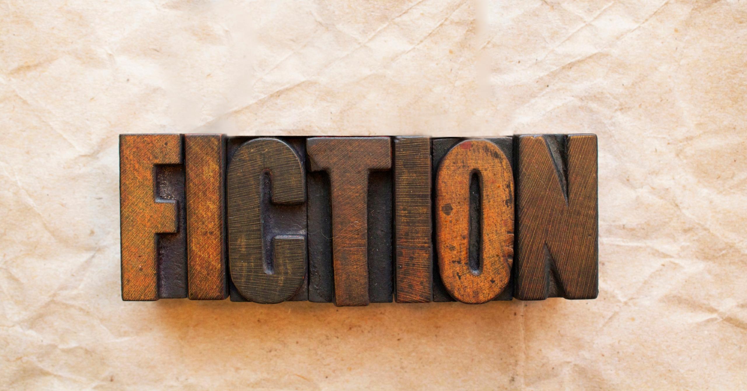 The word Nonfiction written in vintage wood letterpress type.