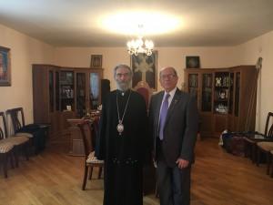 Zaven Khanjian with Arch. Barkev Martirosyan